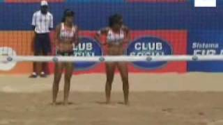 la jugadora de voleibol brasilea talita se corona reina de la playa