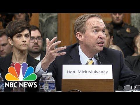 Mick Mulvaney Trashes Consumer Protection Agency At January Confirmation Hearing | NBC News