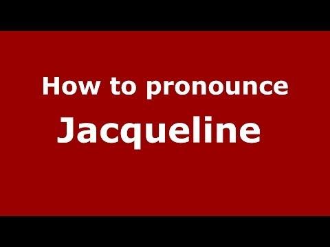 How to pronounce Jacqueline (French/France) - PronounceNames.com