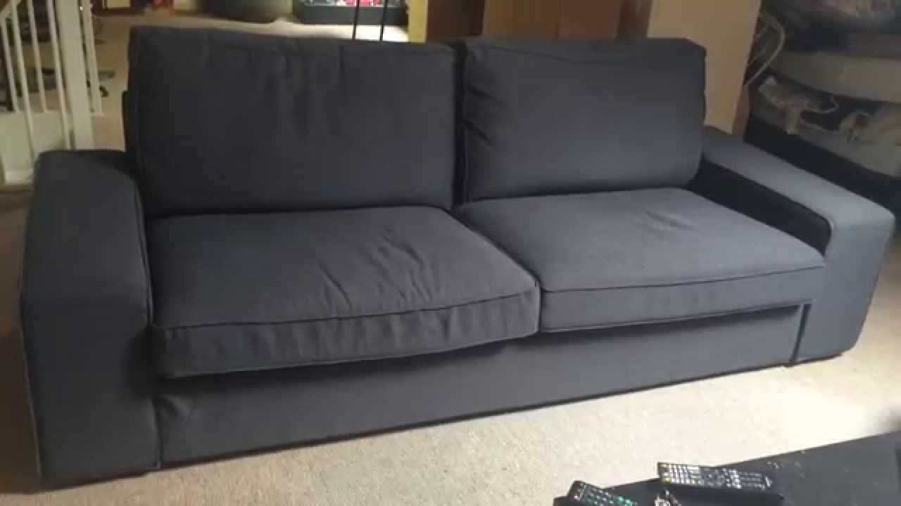 Ikea Kivik Three Seat Sofa   YouTube Great Ideas