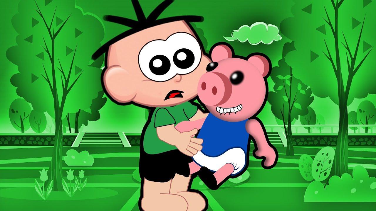 Cebolinha VIRA BABÁ do PIGGY Porquinho