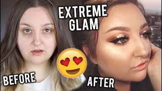EXTREME GLAM TRANSFORMATION | SPOTLIGHT CUT CREASE TUTORIAL + NEW PRODUCTS!