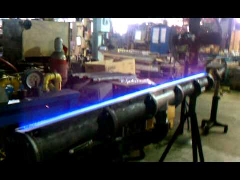 Flame Of A High Capacity Ribbon Burner Youtube