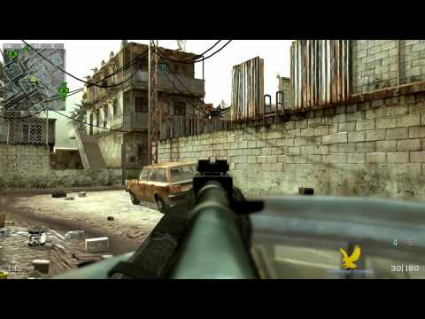 Airborne Gaming CoD4 Gameplay - Sapphire Cup Vs CRACKED Gamers