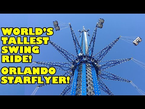World's Tallest Swing Ride! Orlando StarFlyer! Onride POV! 4K 60FPS