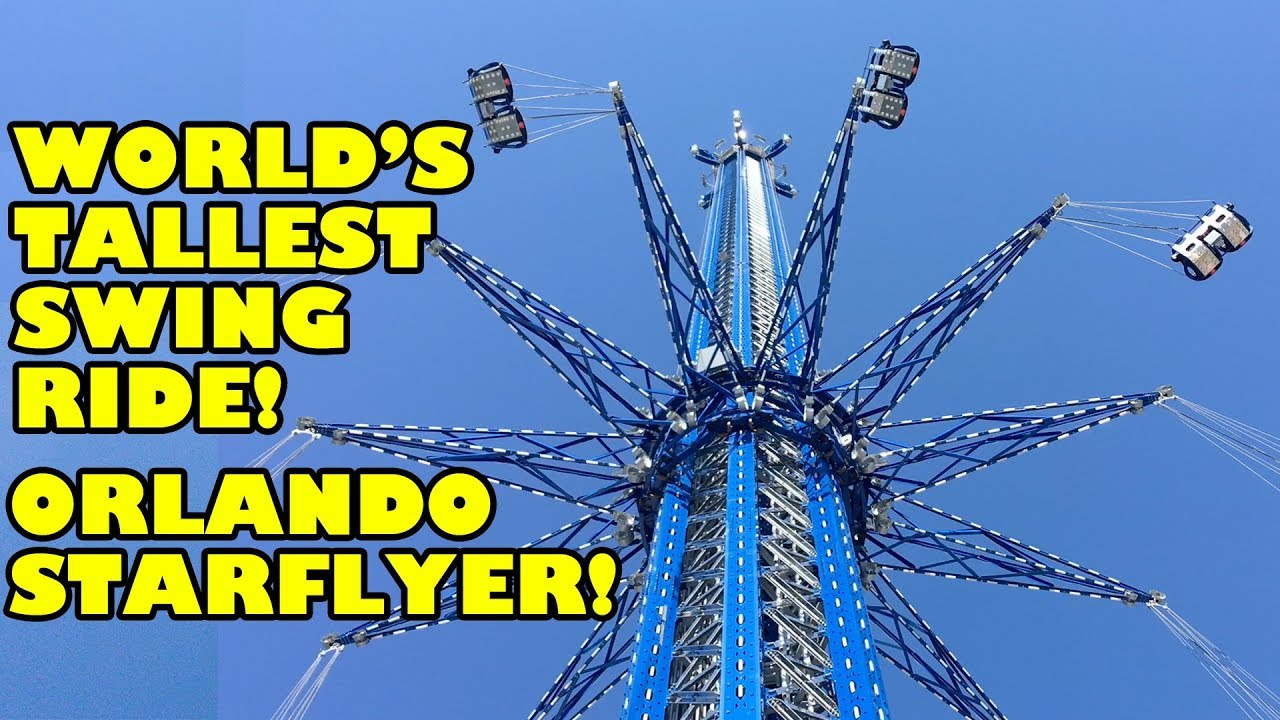 world s tallest swing ride orlando starflyer onride pov 4k 60fps