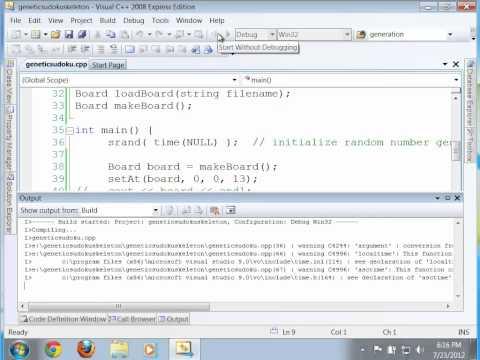 loadBoard in C++ Genetic Algorithm Sudoku