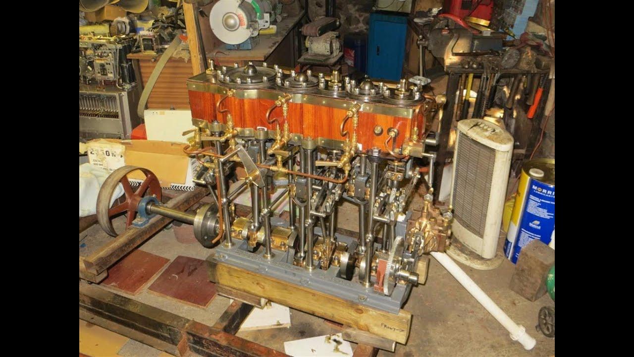 Elliott Bay Triple Expansion Engine, Number 2. - YouTube