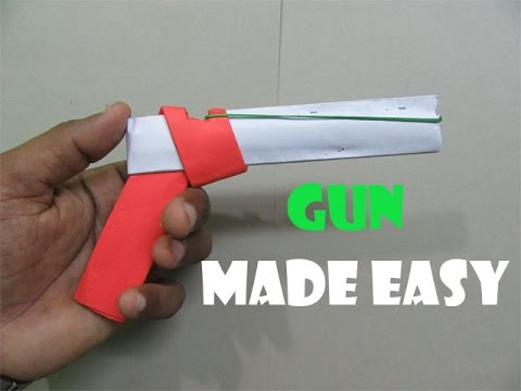 How To Make A Paper Gun That Shoots Rubber Bands With