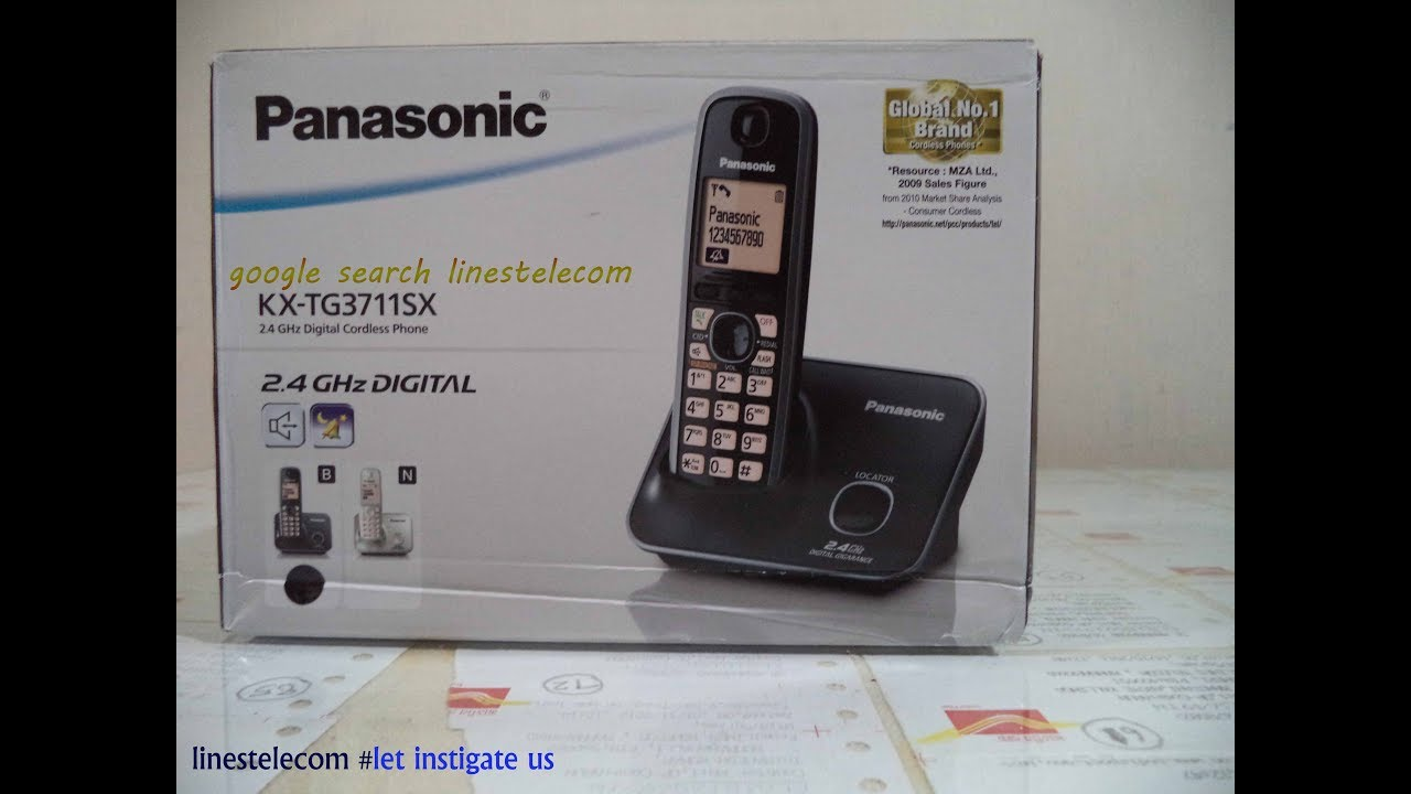 PANASONIC KX TG3711SX 24GHz Landline Cordless Telephone