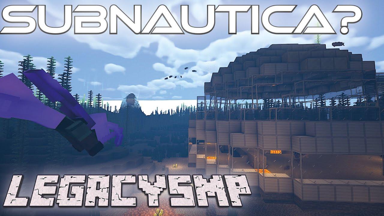 Subnautica in Minecraft LegacySMP | Building an Underwater Base in Minecraft Survival 1.17