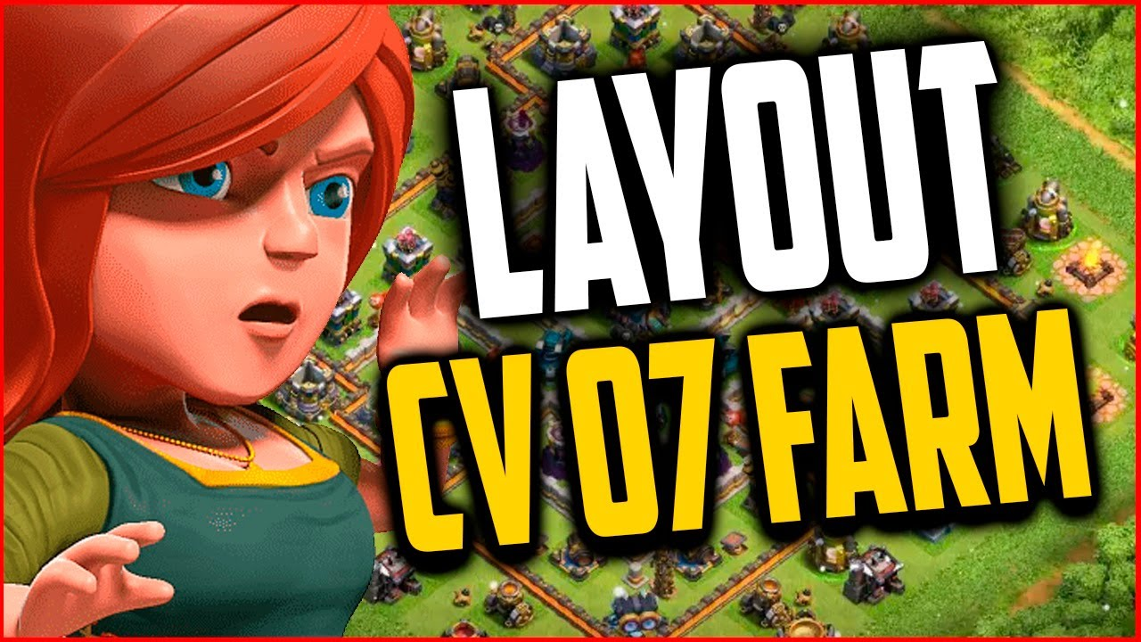 Clash of clans layout cv7 farm town hall 7 farming base th7 2015