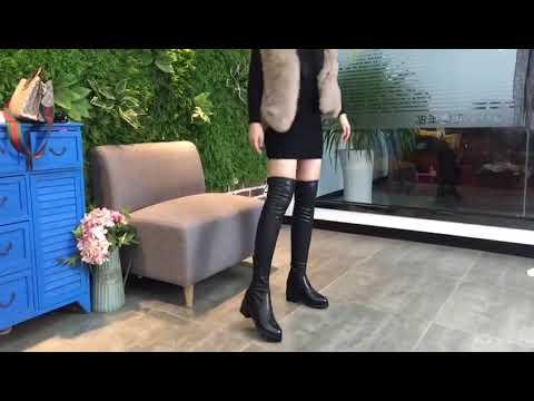 2018 fashion PU women's booties shoes