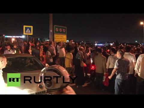 Turkey: Protests hit streets of Istanbul after Turkish military declares takeover
