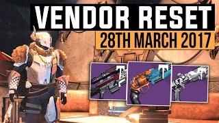Destiny   VENDOR RESET! - Age of Triumph Vendor Reset Weapon Recommendations (28th March 2017)