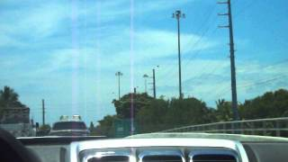 Going from Stock Island to Key West on U.S. Route 1 in the Florida Keys