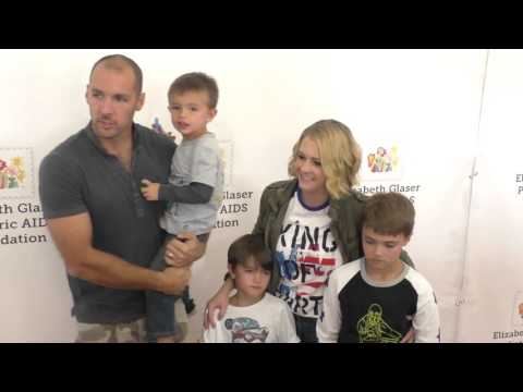Melissa Joan Hart, Mark Wilkerson and their kids at the Elizabeth Glaser Pediatric AIDS Foundation 2