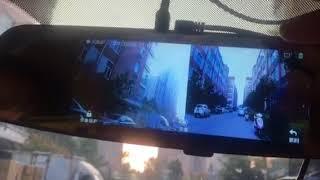 Newsmy X680 test on car.  6.86 inch streaming media  rear mirror camera test on car.