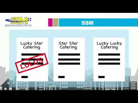 Cara mendaftar syarikat dengan SSM (Suruhanjaya Syarikat Malaysia)