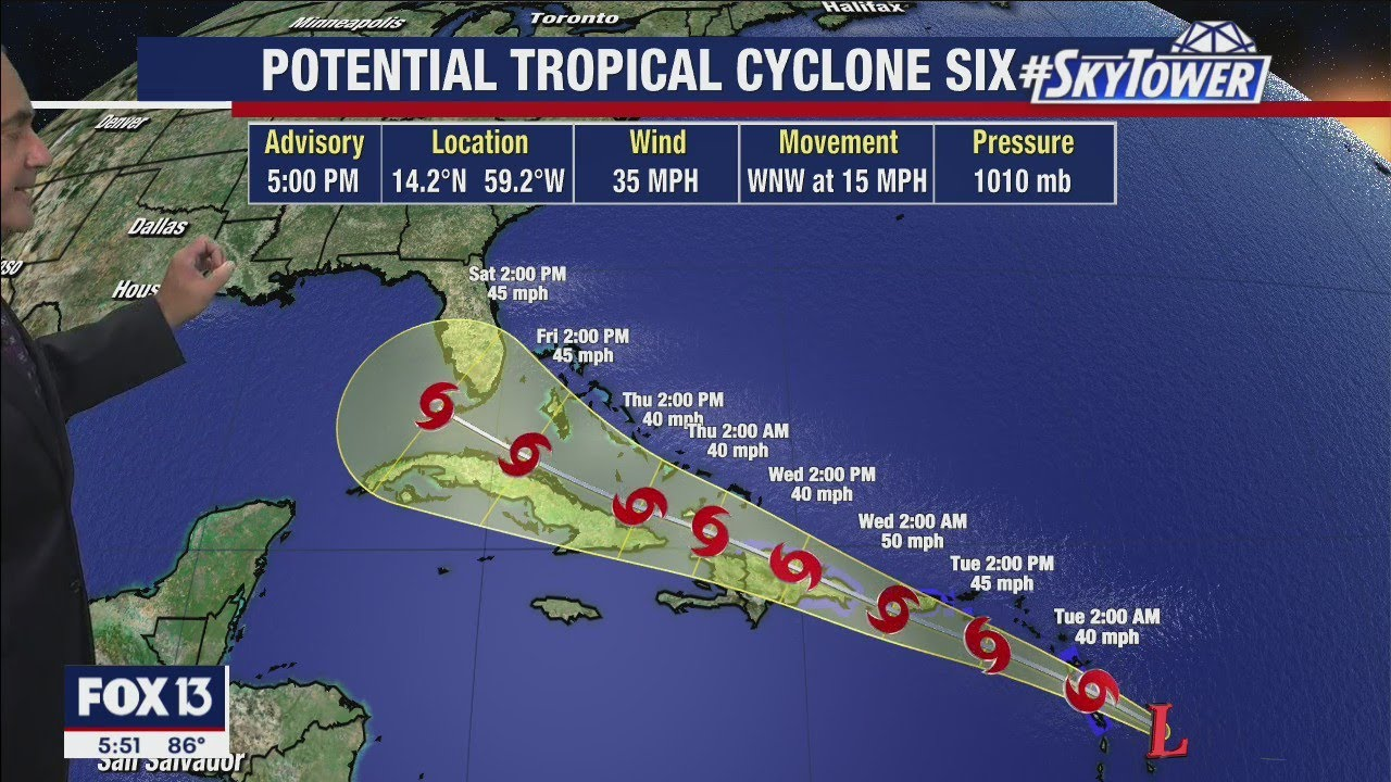 National Hurricane Center: Tropical Storm Fred expected to form ...