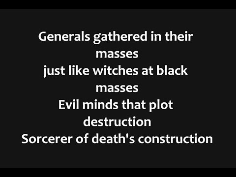 Black Sabbath - War Pigs Lyrics