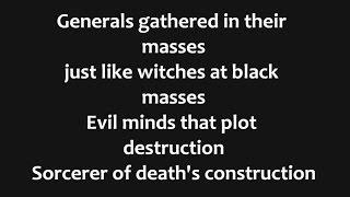 Black Sabbath - War Pigs Lyrics