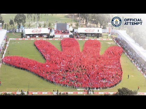 Largest Human Image of a Hand - GUINNESS WORLD RECORDS™ title official attempt | Lifebuoy Bangladesh