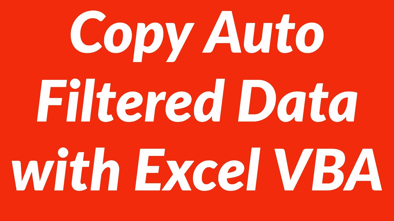 Copy auto filtered data to another worksheet automatically with VBA ...