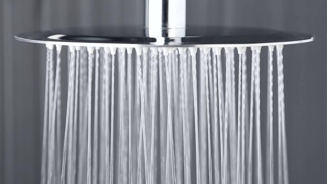 Alcachofa de ducha de techo redonda extraplana 200mm acero for Alcachofas para ducha