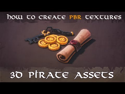 [Timelapse] Game art -How to create 3d stylised pirate game assets in Blender & Substance Painter