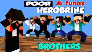 Monster School : Poor And Funny Herobrine Brothers Season One - Minecraft Animation