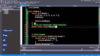 C# für Beginner - 14: Array Methoden Demo