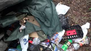 Abandoned Homeless Camp Discovered Houston Texas