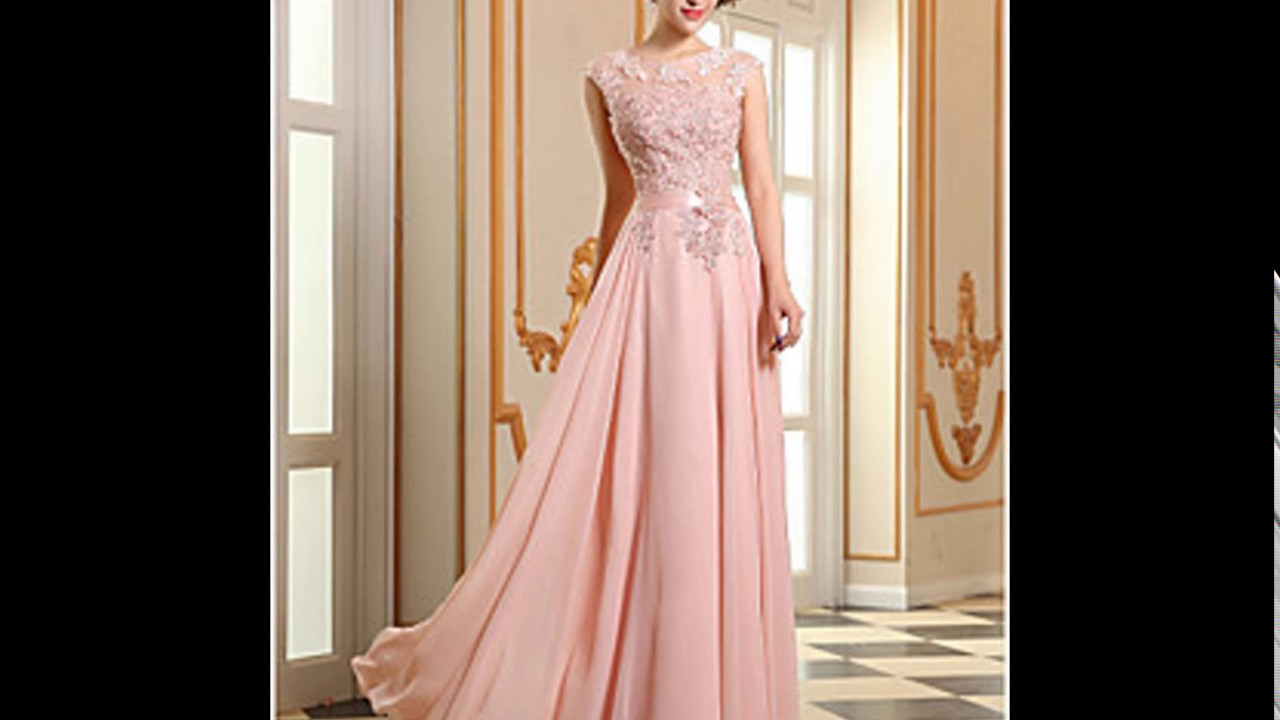 87b0754b2609 Party wear one piece dresses full length - YouTube