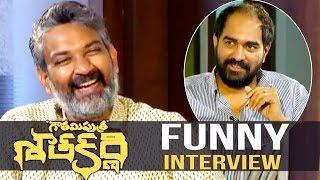 S S Rajamouli Interviews Krish About Gautamiputra Satakarni 2017 - NBK