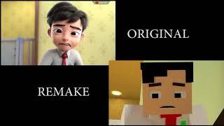 Ejen Ali – Misi Susu ( Original vs Remake Minecraft )