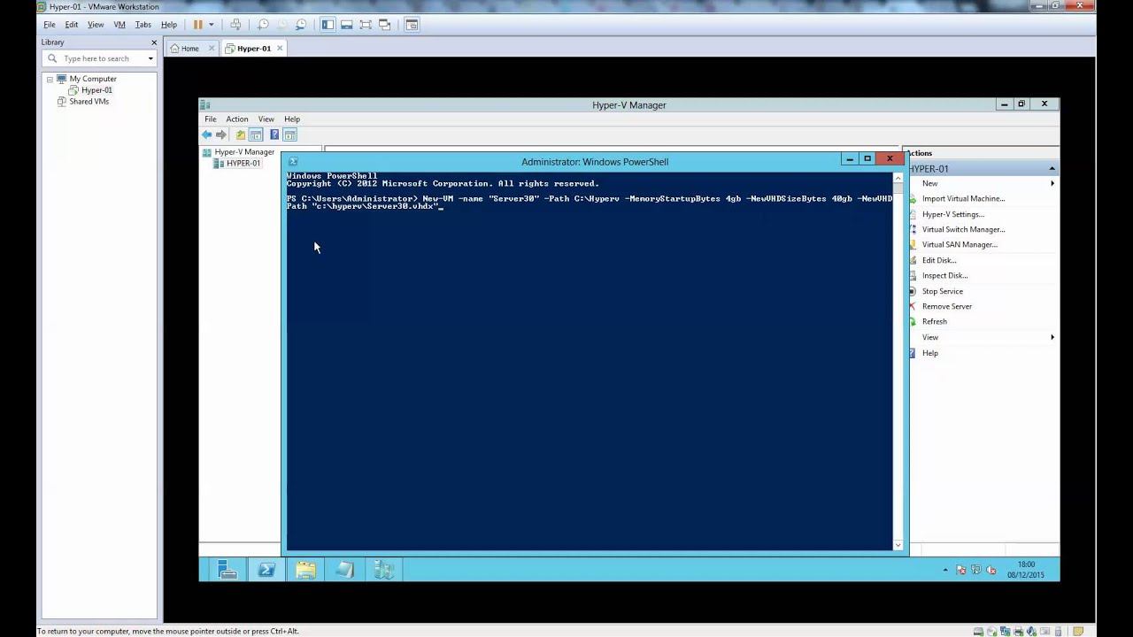 How do you reconnect a Hyper-V virtual switch to your VMs?