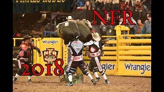 NFR BullRiding 2018 Rides, Wrecks and Saves