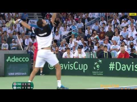 Marin Cilic vs Federico Delbonis Highlights Davis Cup FINAL 2016 Tennis Gods Battle