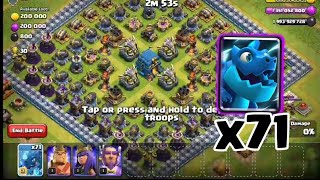 71 Max Electro Dragon Attack To This Insane Base | Clash of Clans Private Server | Wolf Gaming | COC