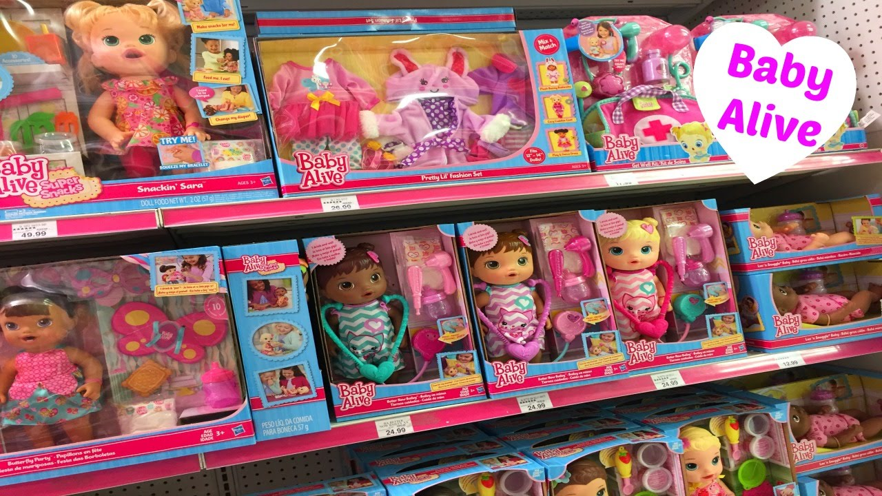 Baby Alive Toy Aisle at Toys R Us - YouTube