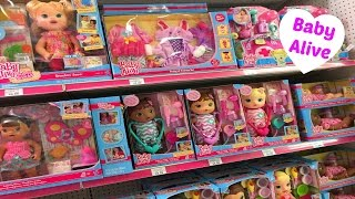 Baby Alive Toy Aisle at Toys R Us