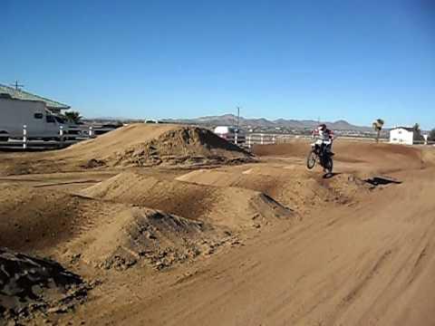 Cameron Rodriguez - Bad crash on whoops at home track.AVI