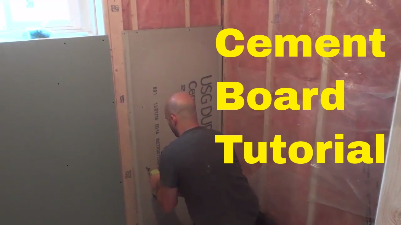 How To Install Cement Board-DIY-Tile Backer Board - YouTube