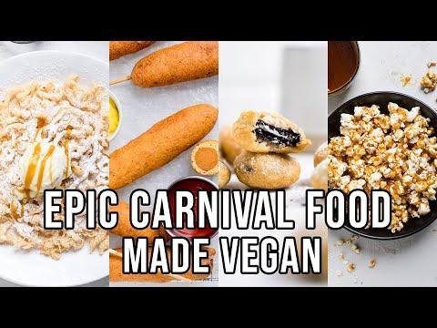 Vegan Carnival Food! | Funnel Cakes, Fried Oreos, Corn Dogs & Caramel Popcorn! All Vegan!