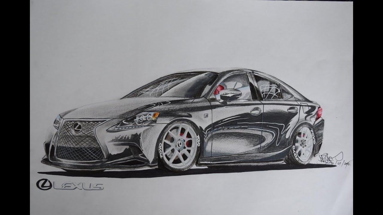 The Drawing Board - 2015 Lexus Is350 F Sport Drawing