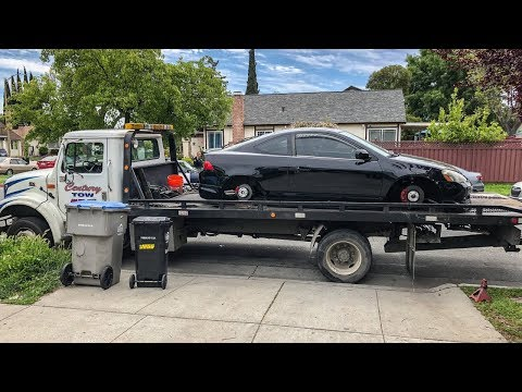 RSX gets IMPOUNDED with NO WHEELS.. (There were DAMAGES)