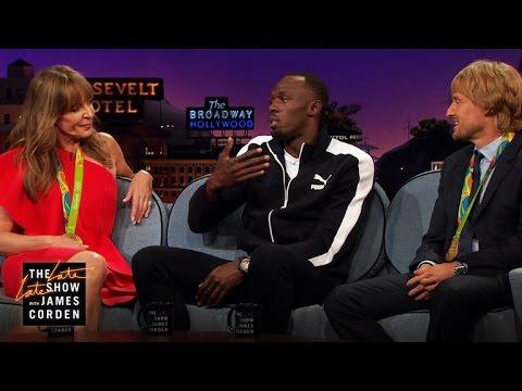 Athletic Feats W Allison Janney Owen Wilson Usain Bolt