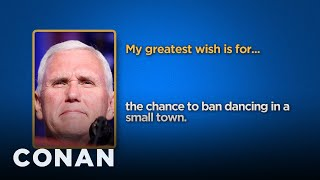 Celebrity Survey: Mike Pence, Vladimir Putin Edition  - CONAN on TBS
