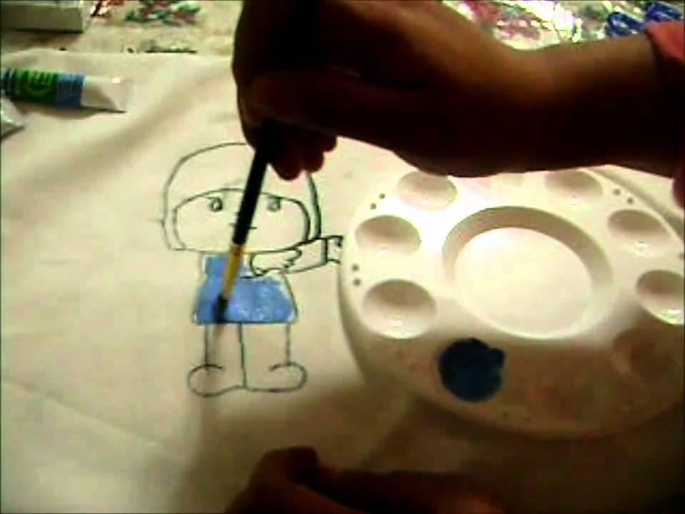 Curso de pintura textil pintado en tela a mano youtube - Como pintar azulejos a mano ...